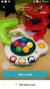 Ball popping toy