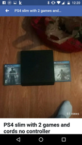 Ps4 with 2 games and no controller