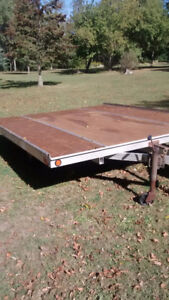 Double tilt ALUMINUM snowmobile trailer