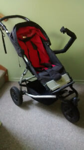 Mountain Buggy Swift stroller with carrycot