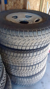 Truck tires and running boards for sale