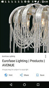 High End Contemporary Chandelier by Eurofase For Sale