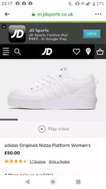 Ladies adidas nizza trainers