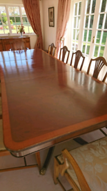 Formal 12 seater dining table.