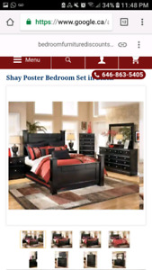 Used Ashley Furniture-Queen bedroom set (3pc)