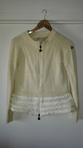 authentic womens MONCLER sweater with down $250 obo