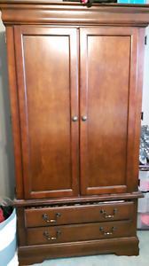 Solid wood wardrobe/ entertainment unit