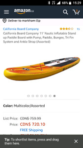 Inflatable paddle board SUP new in box