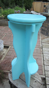 Robin's Egg Blue Plant Stand