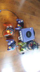 Gamecube, controllers, memory cards and mario party 5