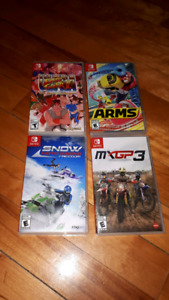 4 Nintendo Switch Games for Sale Arms Etc