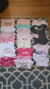 23 items 0-3 mnth onesies