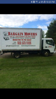 Bargain Movers Flat rates or per hour rates inexpensive