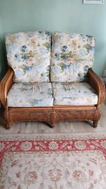 2 seater cane sofa