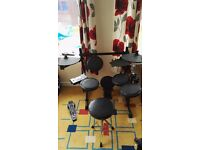 Electronic drum kit with stool