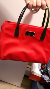 Bright red kate spade purse