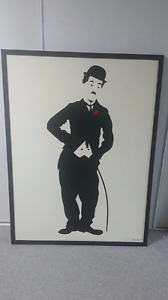 Charlie Chaplin and Laurel and Hardy paintings