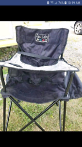 Traveling high chair.