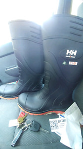 Steel toe rubber boots, helly hansen