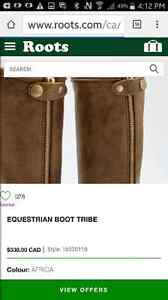 ROOTS Tall Tribe Leather Riding Boots Windsor Region Ontario image 5