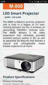 Brand new LED Smart projector