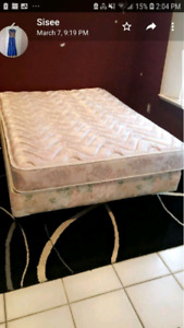 Double size bed frame with mattress