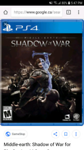 Looking to trade/buy Shadow of War for ps4.