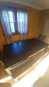 Ikea Bjursta Extendable Dining table, bench and chairs.