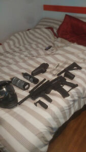 Paintball Tippman A5 with E-grip and extras/accessories