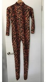 Fancy dress TIGER 🐯 costume all in one medium or small and extras Leggings ears tail
