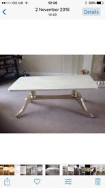 Coffee table, hand painted shabby chic style