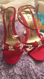 Size 8 Red High Heels