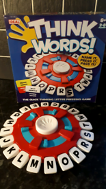 Brand New! THINK WORDS Game by Ideal