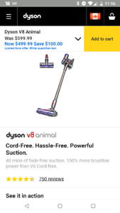 **Dyson V8 Animal** new in the box with manufacture warranty