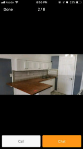 1 bedroom walk out basement apartment for rent