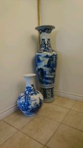 Vases , Blue/White ,4 ft, seldom found.