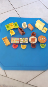 Vintage Fisher Price Little People furniture