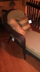 Brown wicker lounging chairs Cornwall Ontario image 1