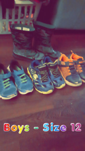 Boys Size 12 shoe lot