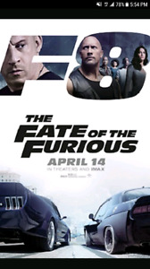 THE FATE OF THE FURIOUS (FAST 8)  VIP TICKETS