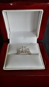 Engagement Ring - 2.02 total carat - Emerald cut diamonds