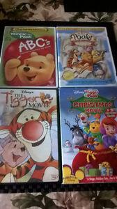 4 Winnie the Pooh Disney DVD's