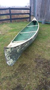 RARE! 1920's Peterborough sailing canoe.