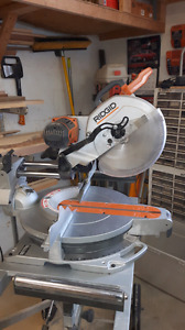 Scie a onglet coulissante  12po ridgid