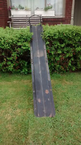 Motorcycle trailer or truck bed carrier, all steel