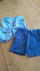 Two pairs boys shorts - size 4