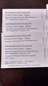Vancouver Wine Festival Tasting Tickets