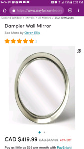 Brand new large dampier wall mirror