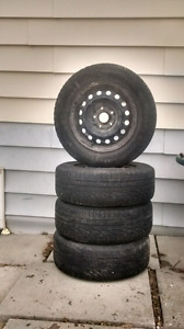 4 steel rims 5x4.5 (5x114.3) with 205/65R15