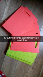 17 coral and mint cutting boards